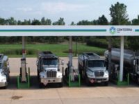 Truck Line Up at Medina Fuel Island 2020